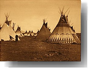 Tentwonings of tepees