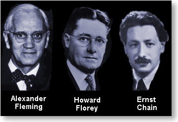 Fleming, Florey en Chain